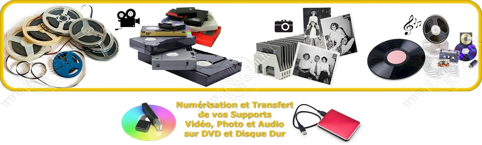 transfert de Film 8mm, Super8, cassette et Diapositive sur DVD